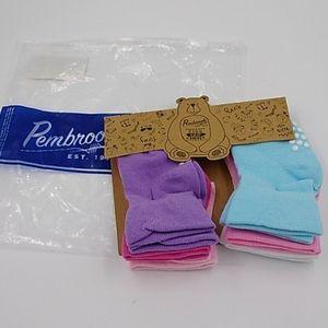 Pembrook 6 Pairs Non-Skid Toddler Socks